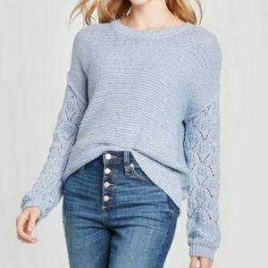 NWT! Knox Rose Ice Blue Sweater XXL